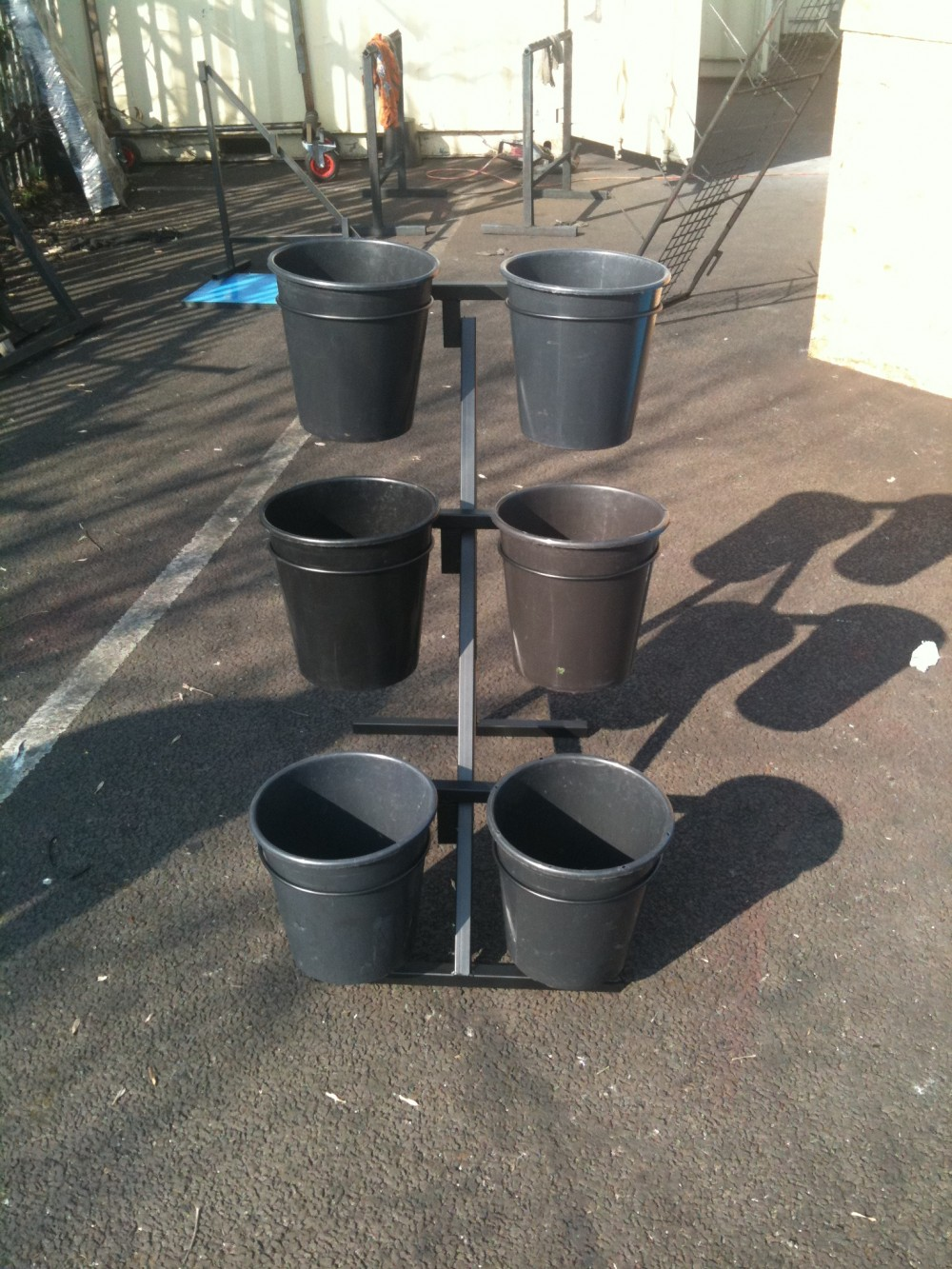 7 Bucket Flower Display Stand Uk Display Stands