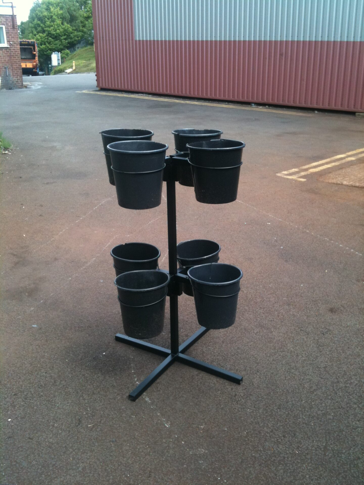 7 Bucket Flower Display Stand Uk Display Stands