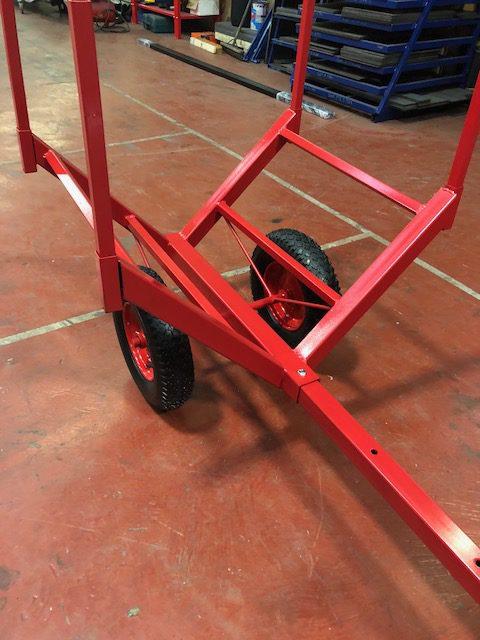 Log Trolley On Pneumatic Wheels Uk Display Stands