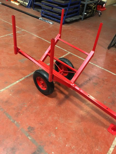Log Trolley On Pneumatic Wheels Uk Display Stands