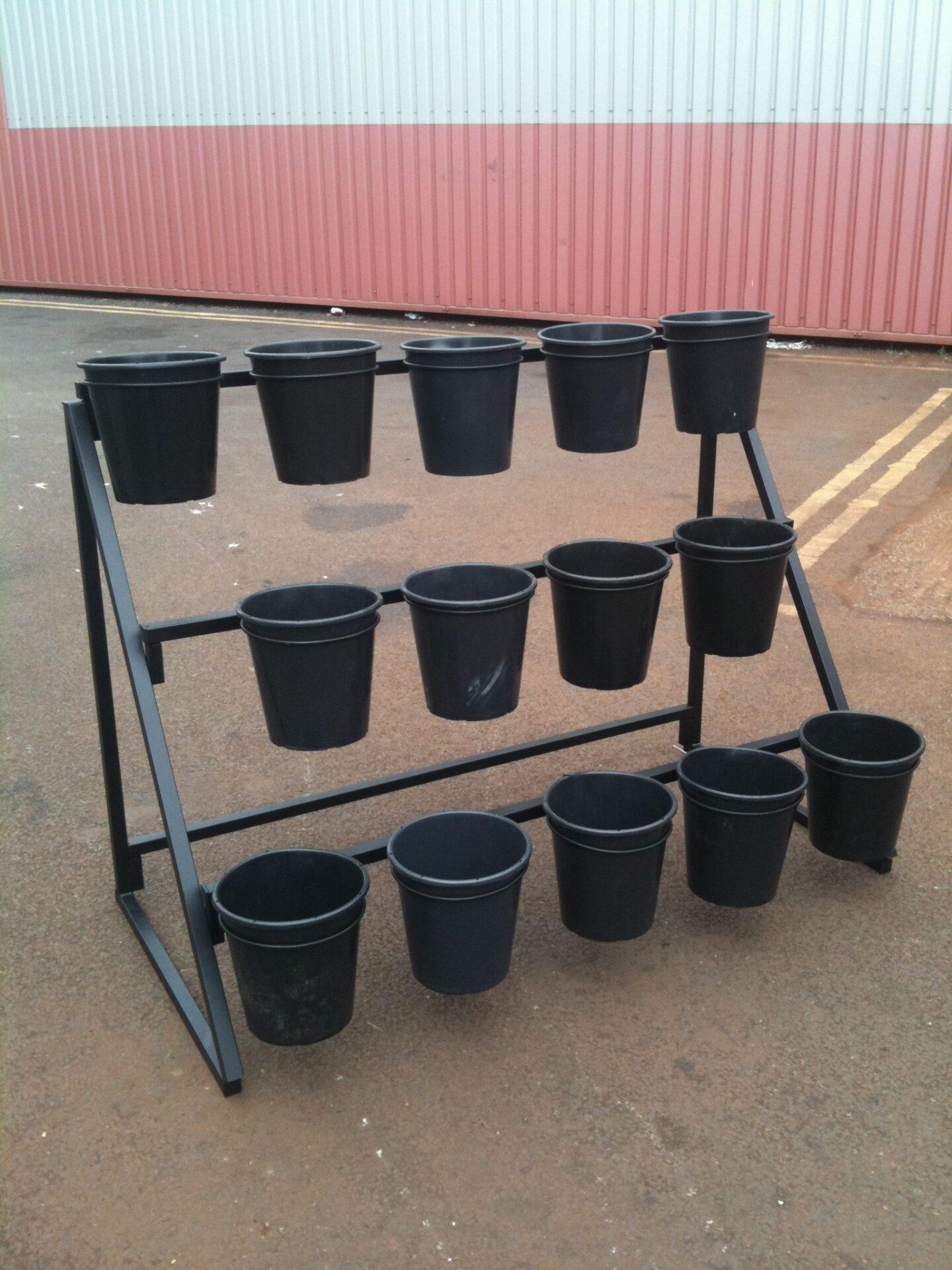 14 bucket flower stand