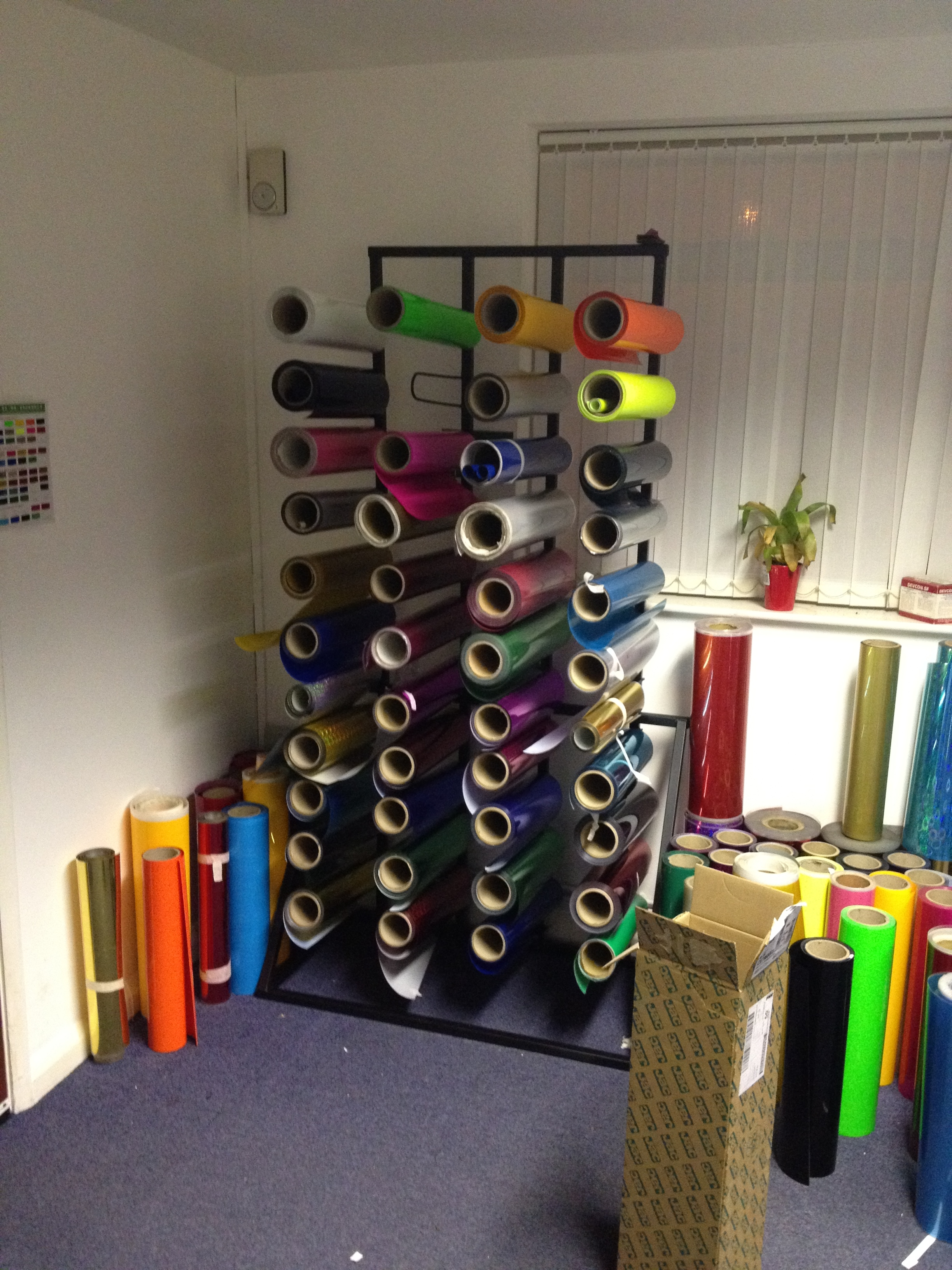 Vinyl Fabric Roll Stand Uk Display Stands