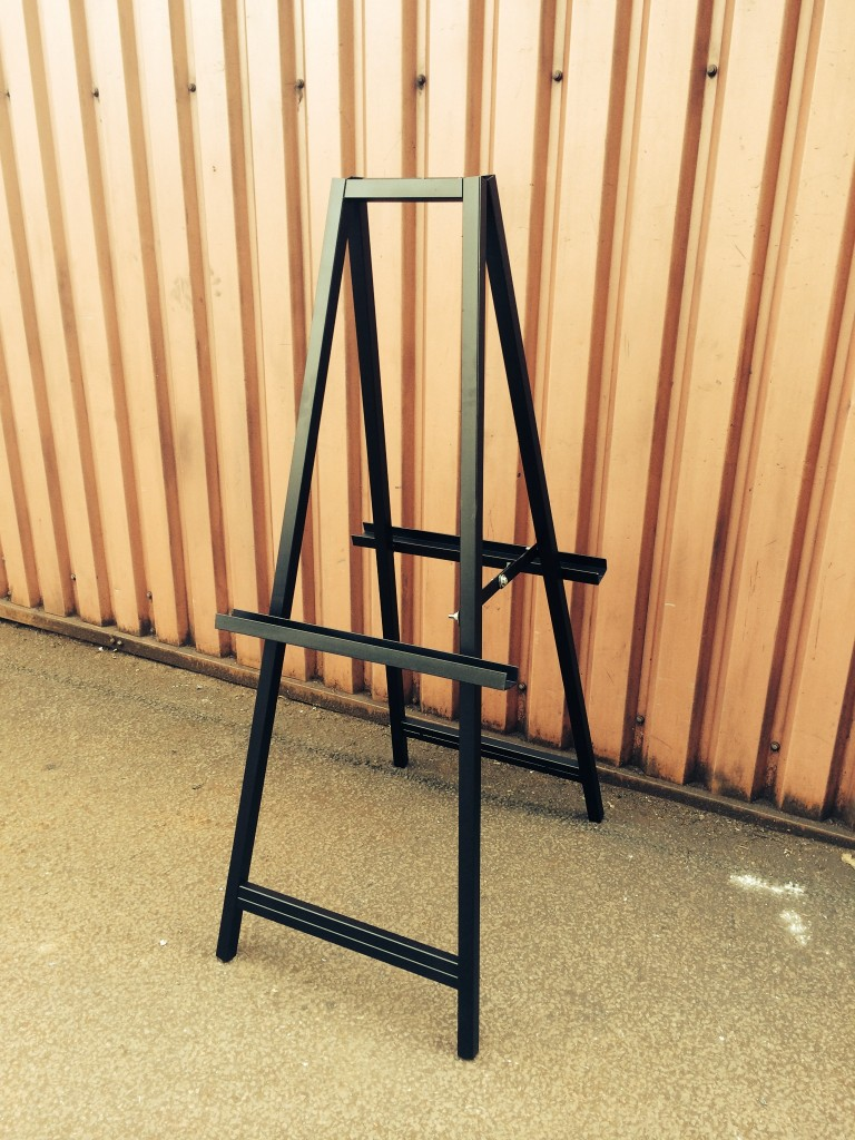 FOLDING EASEL SIGN HOLDER DOUBLE SIDED