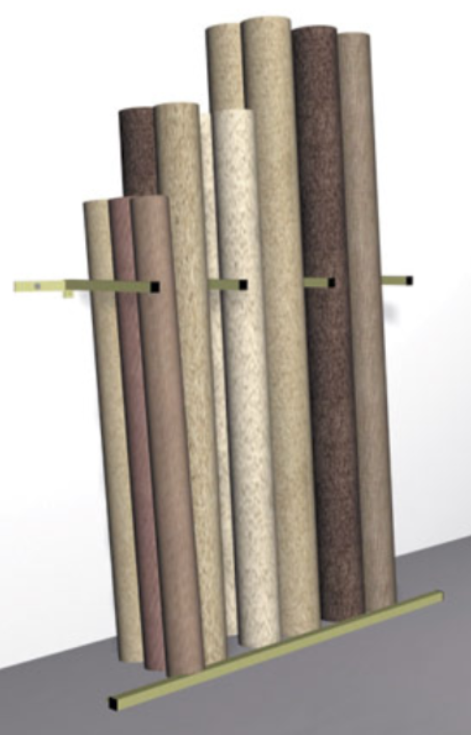 CARPET STAND REMNANT WALL SYSTEM