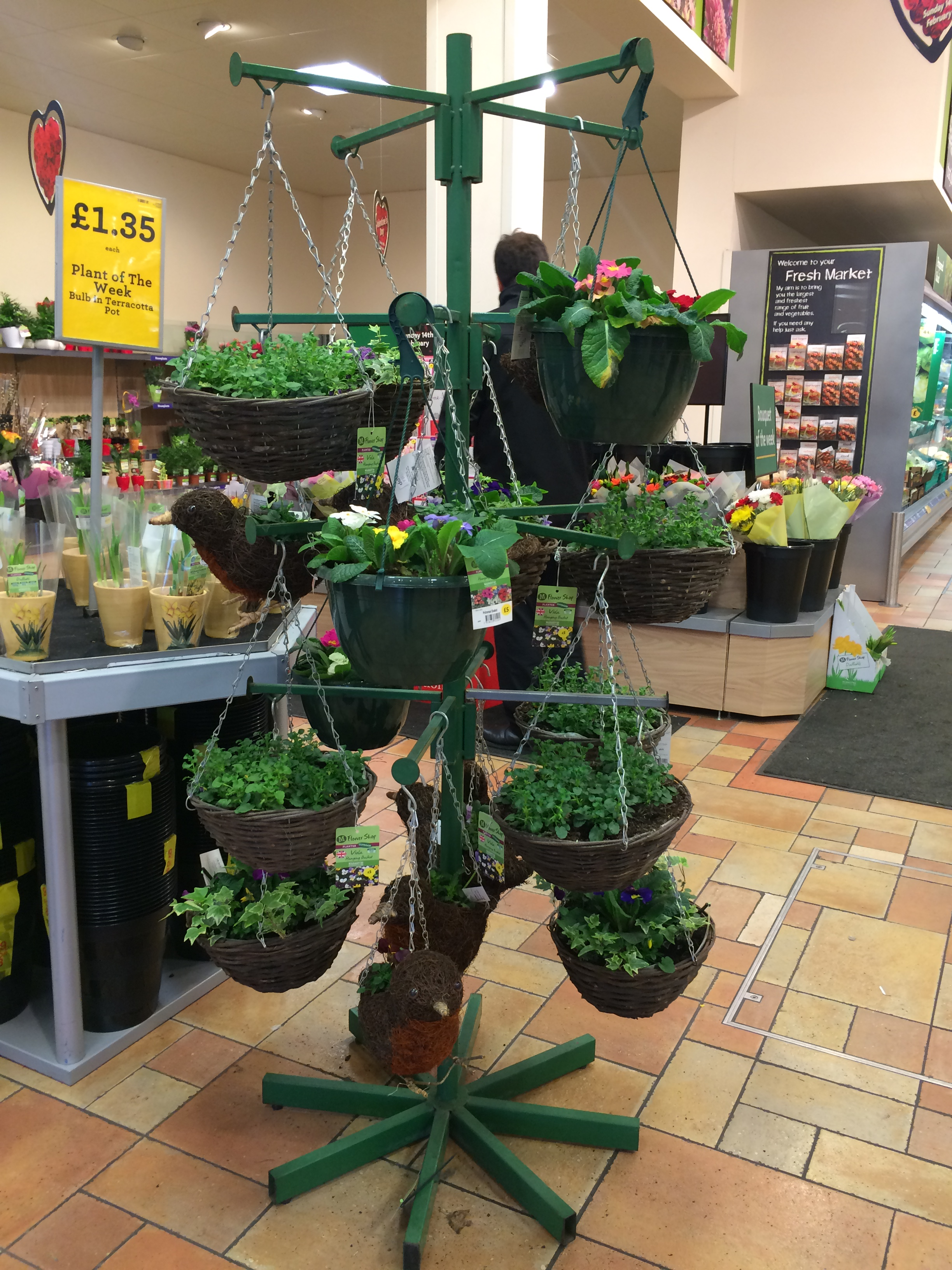 Hanging Basket Stand 4 Tier Uk Display Stands
