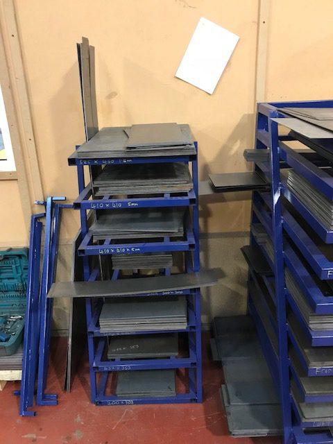 Sheet Steel Storage Rack Small Uk Display Stands